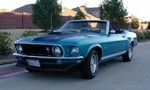 My 69' Mustang Convertible as it was before the accident. The 3rd paint coat of Gulfstream Aqua was chosen by the 2nd owner I bought it from.